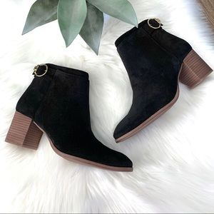 Tory Burch Sofia 65mm Black Suede Bootie Boots 6.5